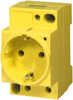 MSVD POWER SOCKET VDE YELLOW