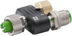 T coupler M12 female / M12 female+male shielded