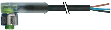 M12 female 90° with cable RPP