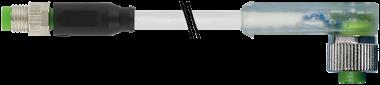 M8 MALE 0° / M12 FEMALE 90° LED