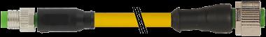 M8 MALE 0° / M12 FEMALE 0° 4 POLE