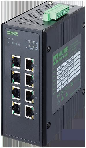 8 Port unmanaged Gigabit Switch 4 PoE Ports IP20 metal