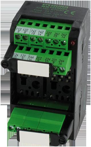 MKS - J 24/LED 230 RELAY SOCKET MODULE